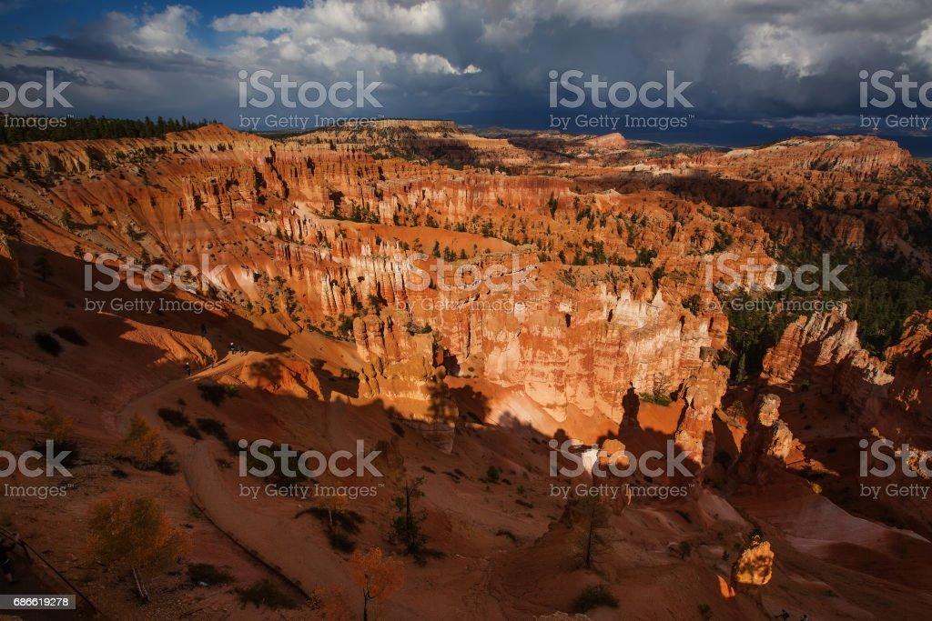 Landscape of Bryce canyon National Park, Utah, USA royalty-free stock photo