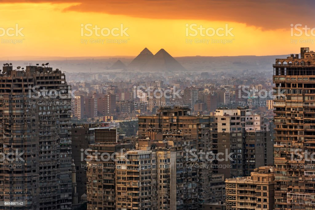 Landscape of Cairo stock photo