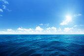 完璧な空と水のインド洋