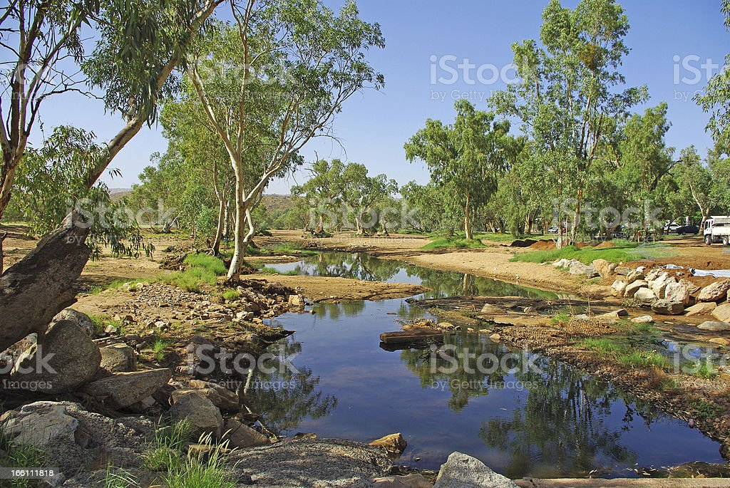 Landscape of Central Australia stock photo