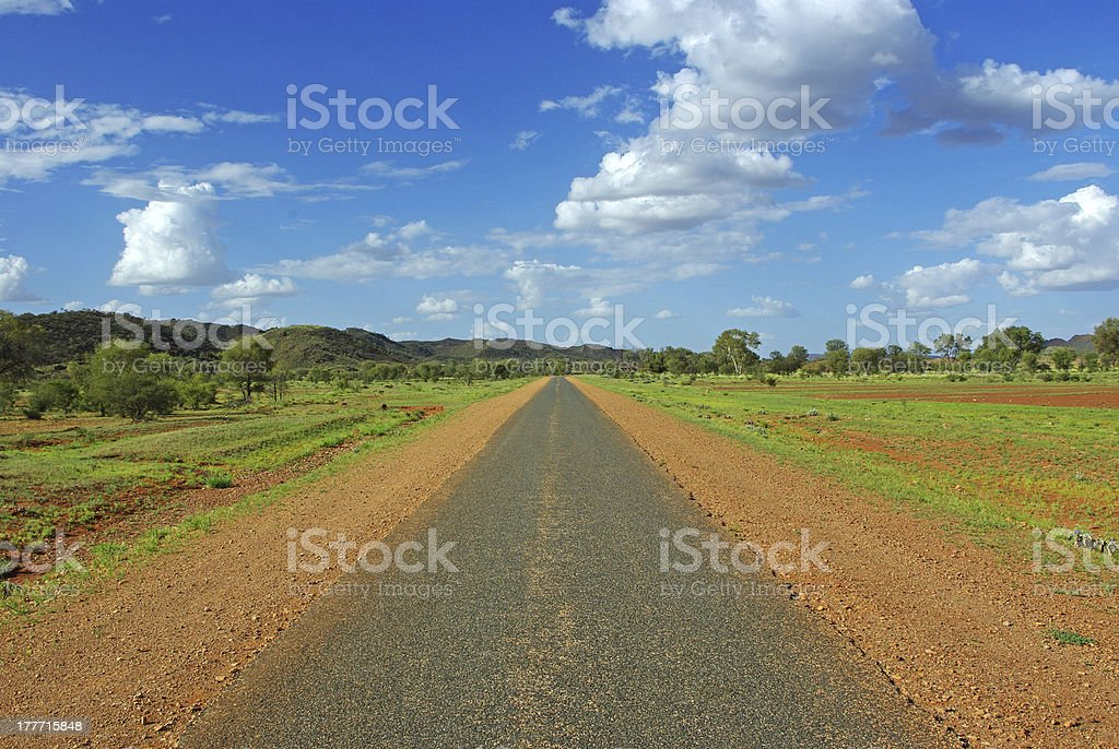 Landscape of Central Australia royalty-free stock photo