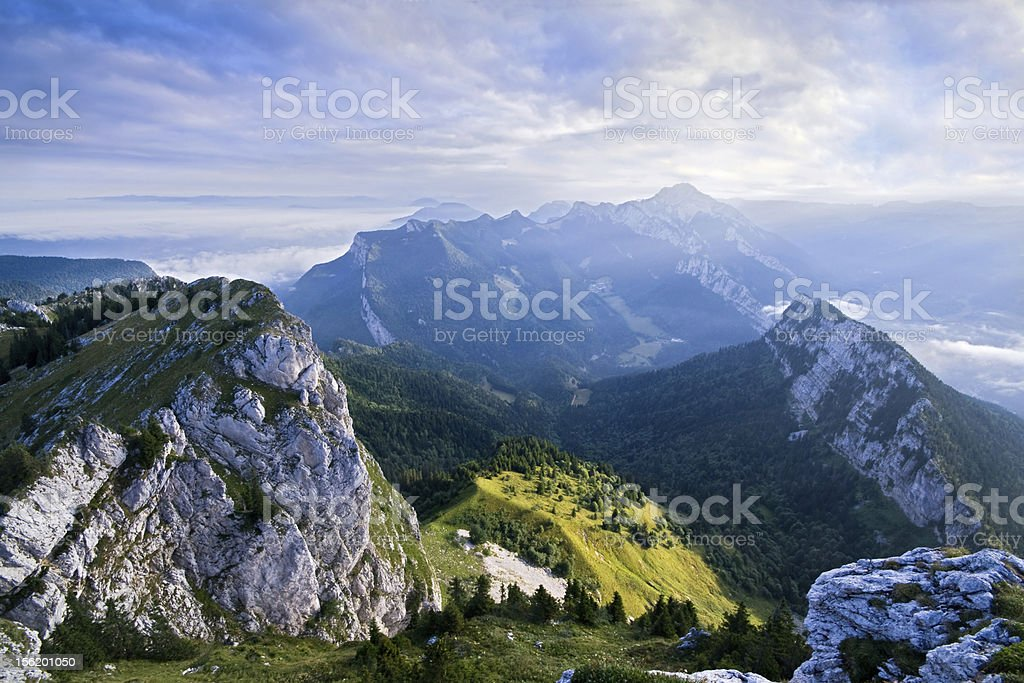 landscape of Chartreuse in the French Alps stock photo