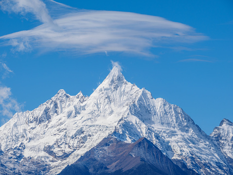 Landscape of China Yunnan Meili Snow Mountain.