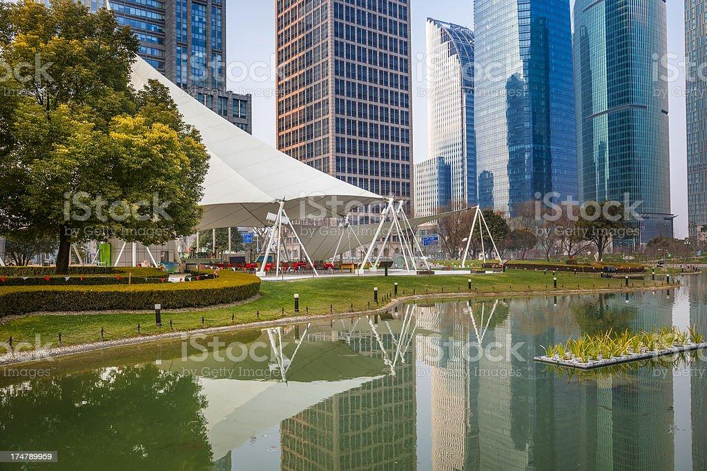 landscape of city shanghai china royalty-free stock photo