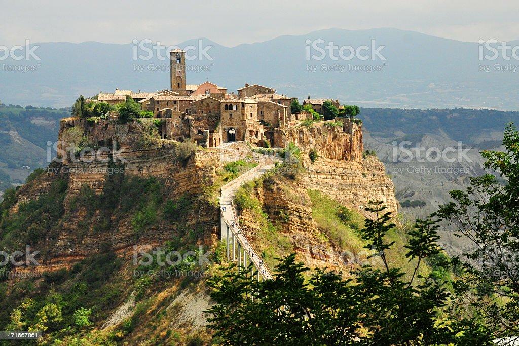 Landscape of Civita di Bagnoregio (Italy) royalty-free stock photo