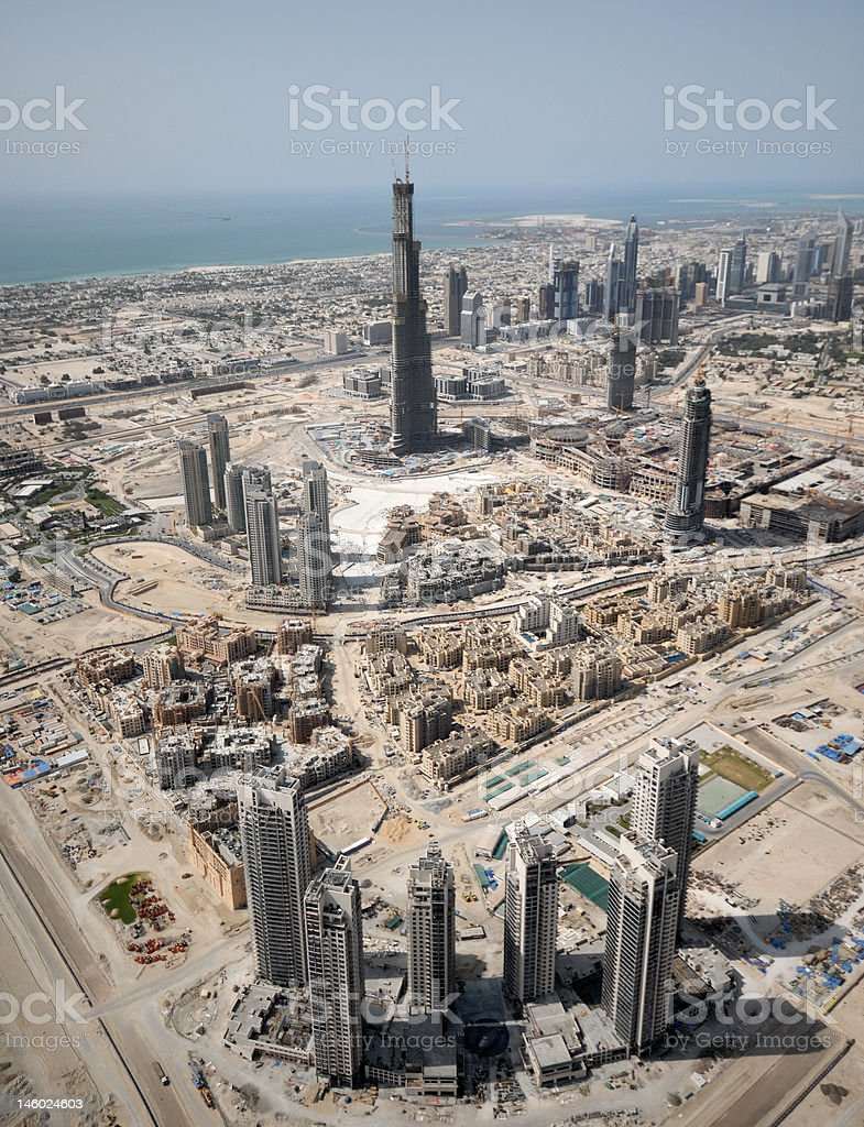 Landscape Of Construction In Dubai royalty-free stock photo