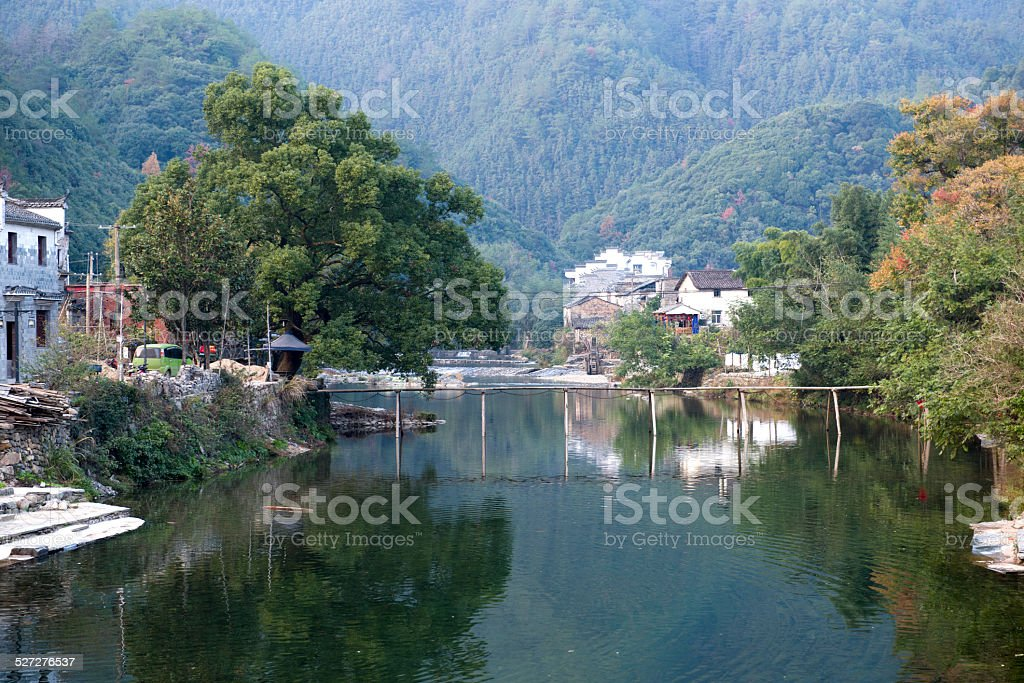 landscape of countryside  in autumn stock photo