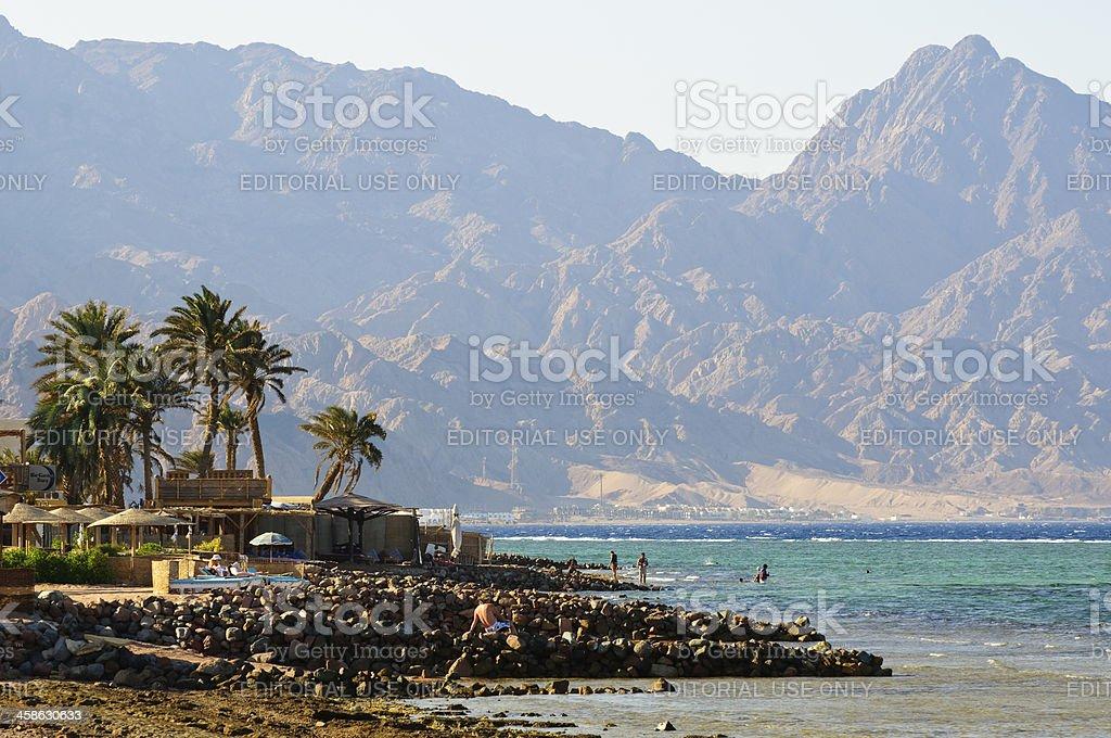 Landscape of Dahab, Sinai stock photo