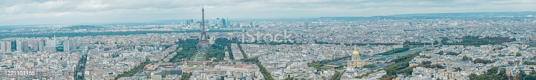 The Eiffel Tower is a wrought-iron lattice tower on the Champ de Mars in Paris,