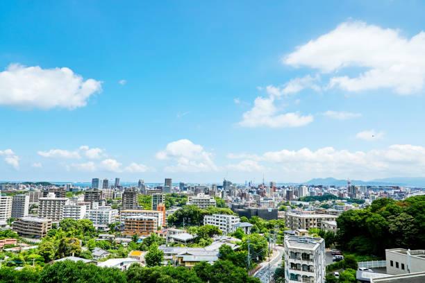 paisagem da cidade de Fukuoka - foto de acervo