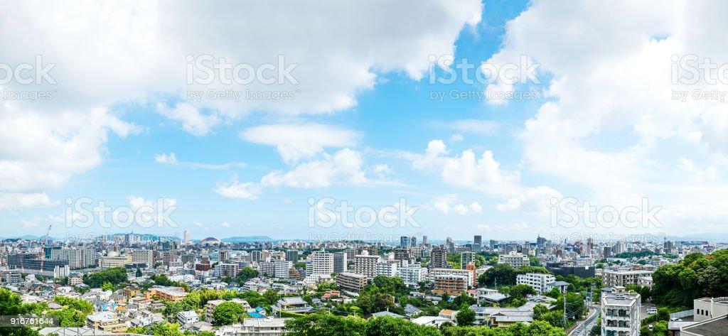 paisaje de la ciudad de Fukuoka - foto de stock