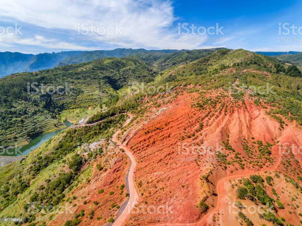 Landscape of Garajonay National Park near by Mirador de Abrante on Canary Islands La Gomera in the province of Santa Cruz de Tenerife - Spain stock photo
