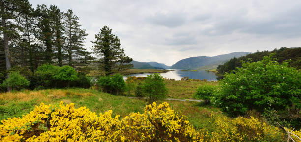 Landscape of Glenveagh National Park, the second largest national park in Ireland, County Donegal, Ireland stock photo