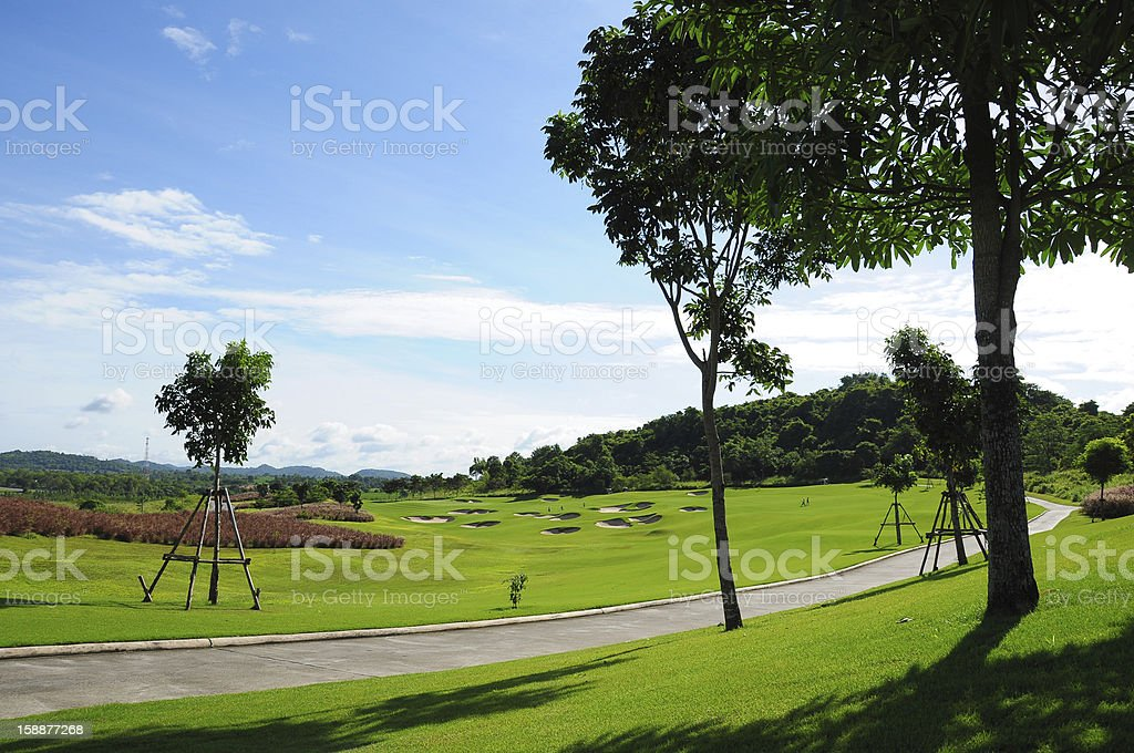 Landscape of Golf Course royalty-free stock photo