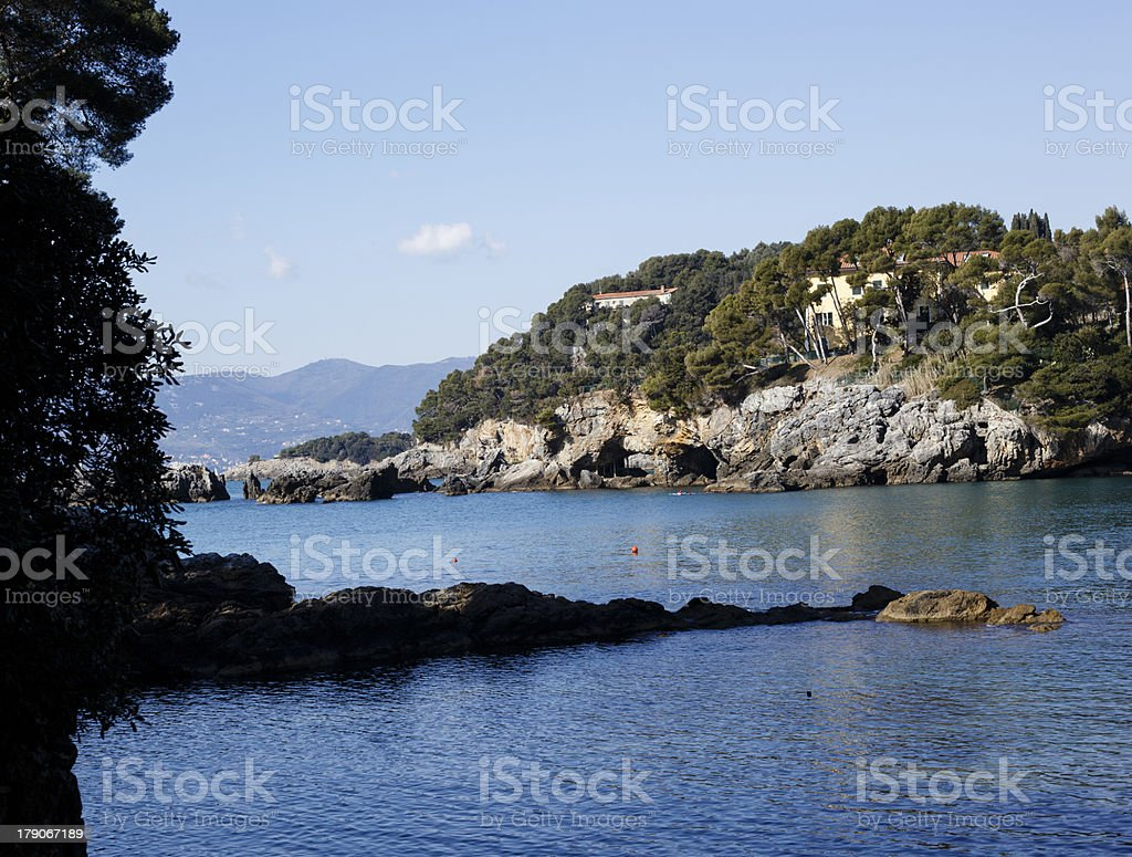 landscape of golfo dei poeti royalty-free stock photo