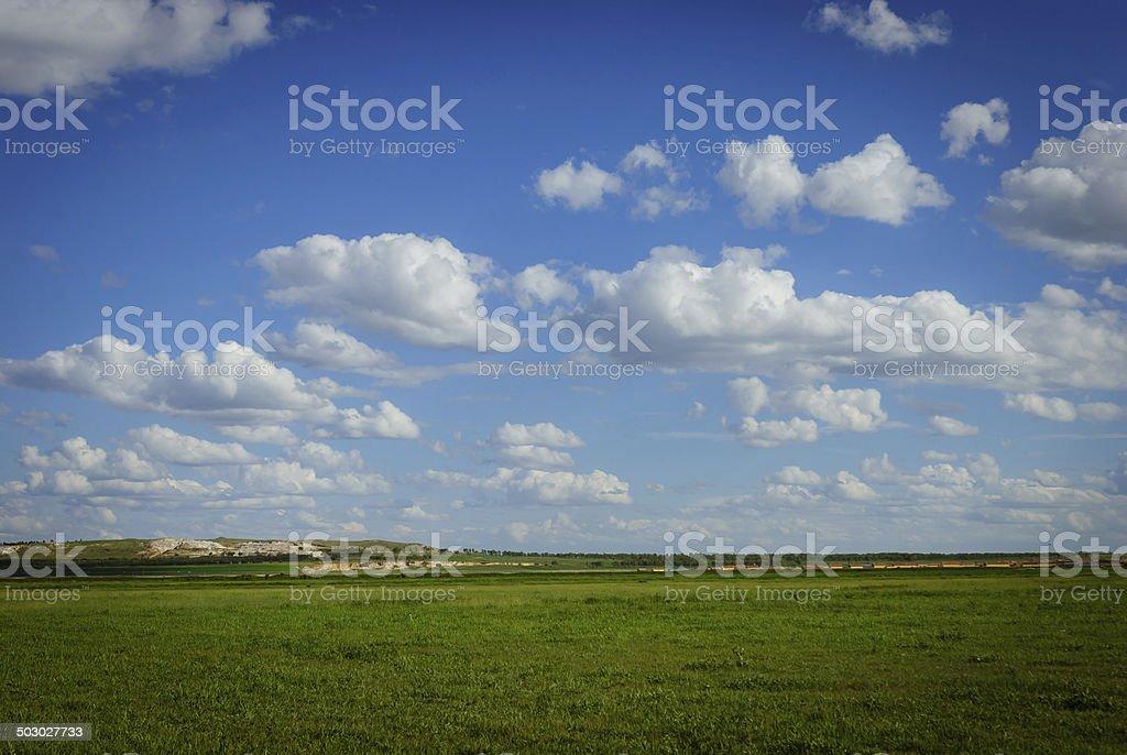 landscape of grassland royalty-free stock photo