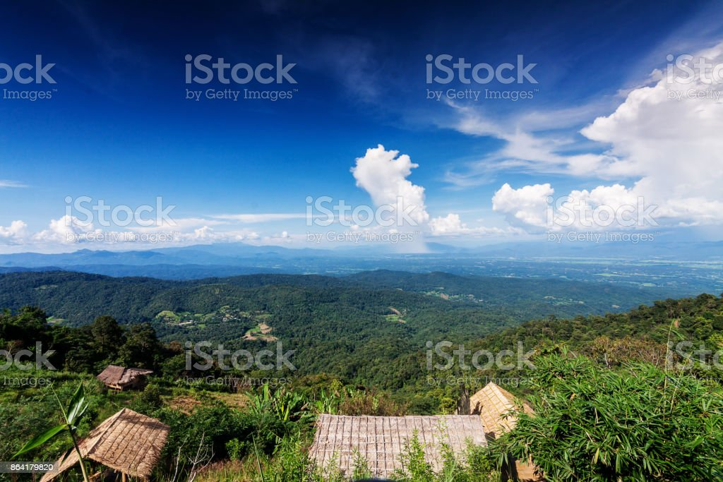 landscape of green beautiful mountain for nature background in the morning at countryside royalty-free stock photo
