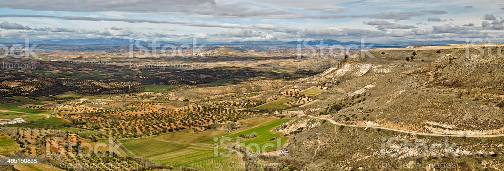 Landscape of Guadalajara province seen from Trijueque stock photo