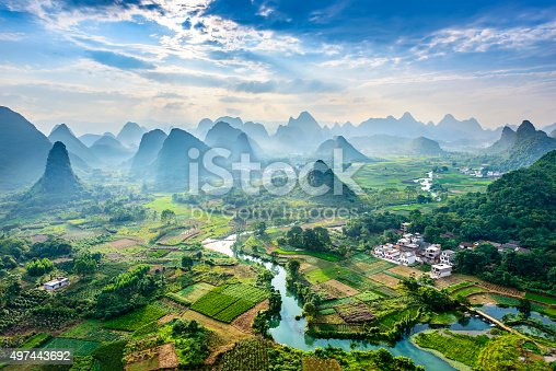 istock Landscape of Guilin 497443692