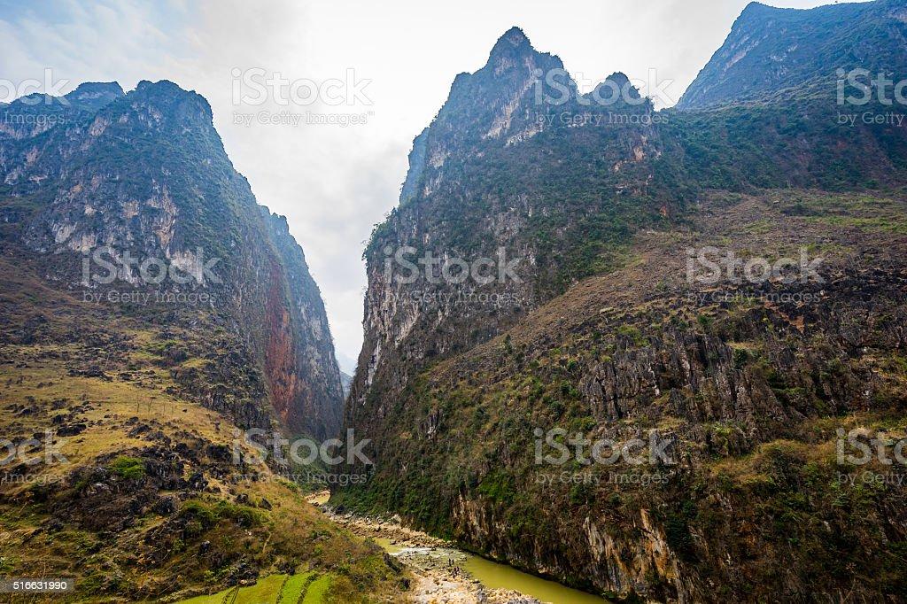 Landscape of Ha Giang, Vietnam stock photo