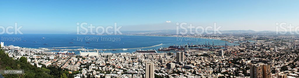 Landscape of Haifa, Israel stock photo