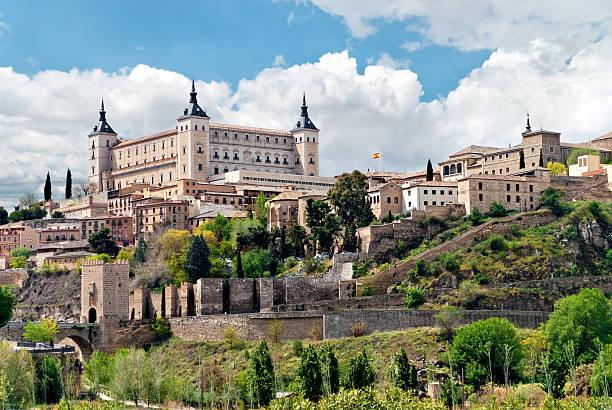 Landscape of historic buildings in Toledo,Spain stock photo