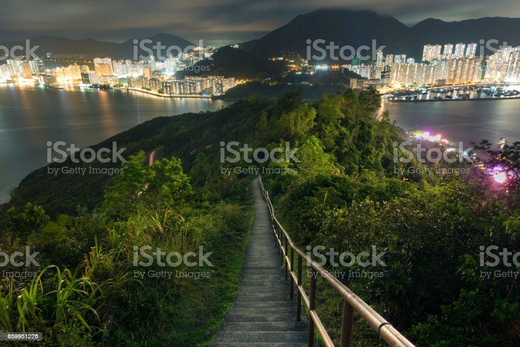 Landschaft von Hong Kong city – Foto