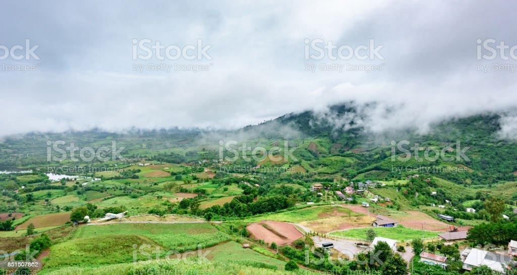 Landscape of Khao Kho district petchabun province Thailand stock photo