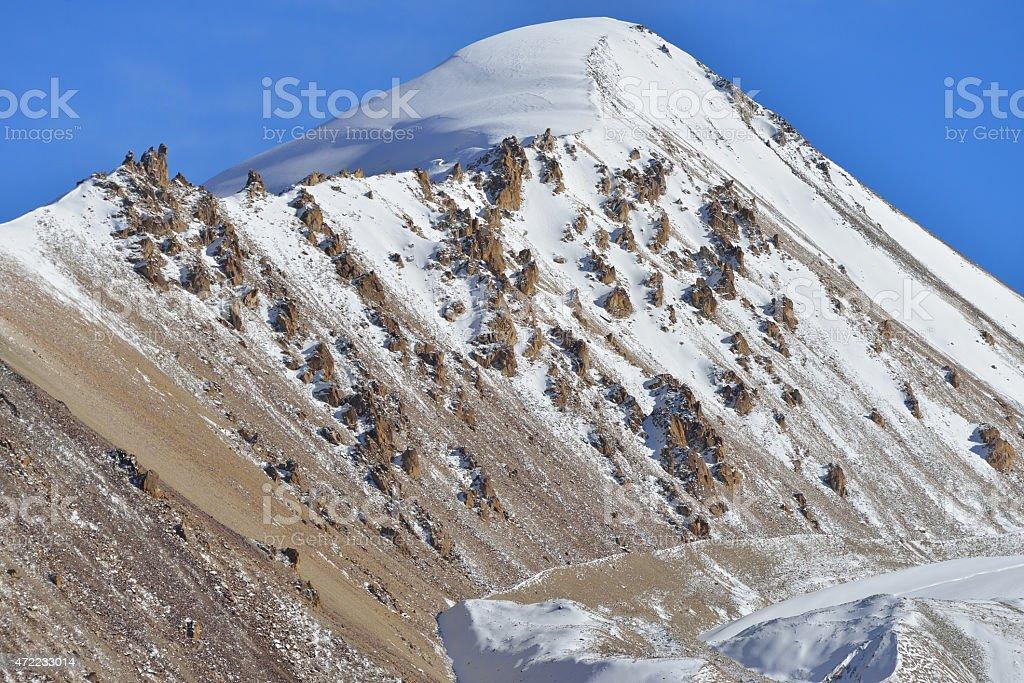 Landscape of Khunjerab pass. stock photo