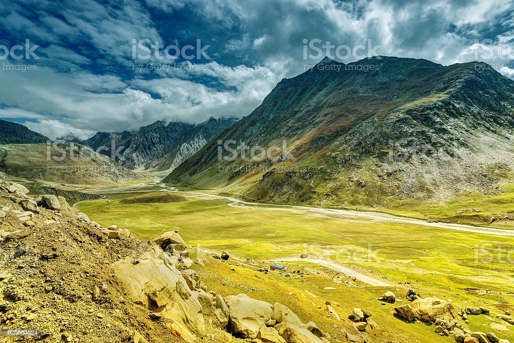 Landschaft von Ladakh, Jammu und Kaschmir, Indien  – Foto
