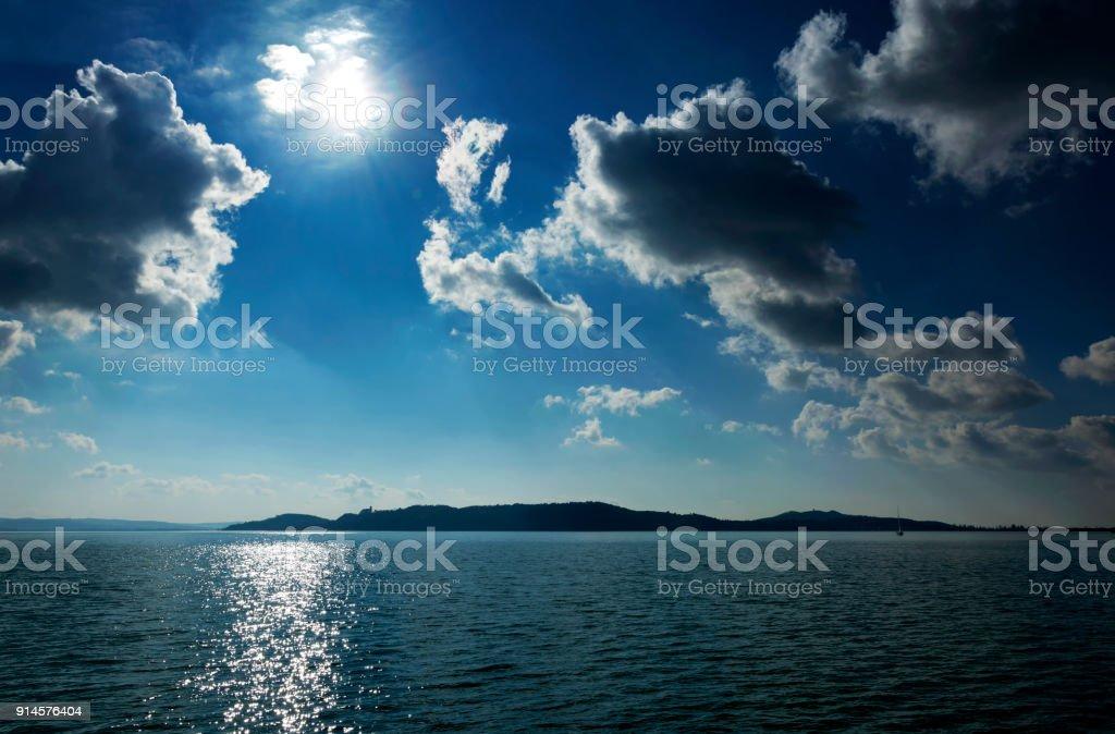 Landscape of Lake Balaton, Hungary stock photo