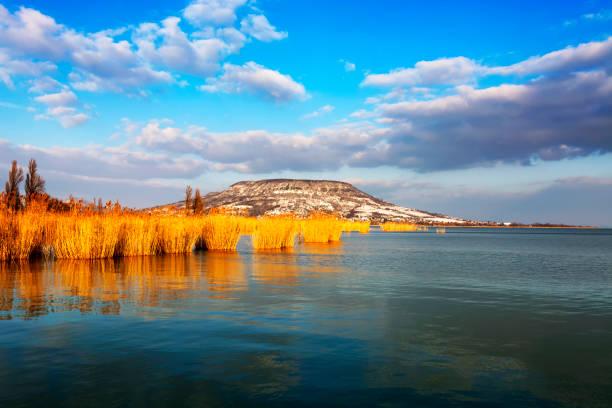 Landscape of Lake Balaton, Hungary - foto stock