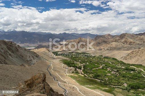 istock Landscape of Leh city in summer or greeny season, Leh, Ladakkh, India 810099514