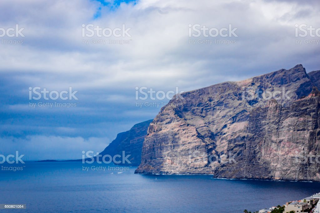 Landscape of Los Gigantes resort city, Tenerife, Canary Islands, Spain stock photo