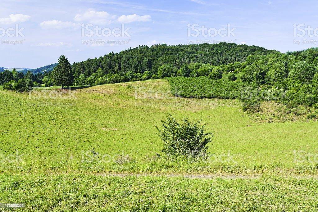 landscape of low Eifel mountains royalty-free stock photo