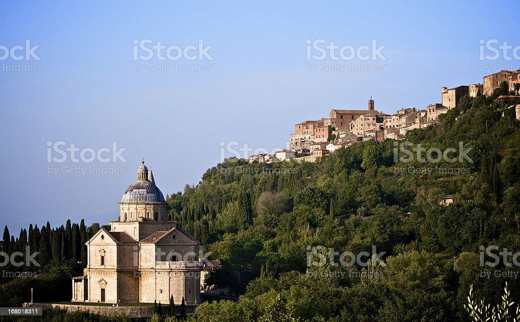 landscape of Madonna di San Biagio royalty-free stock photo