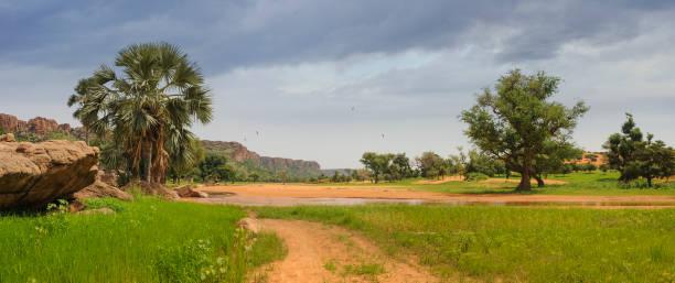 Landscape of Mali stock photo