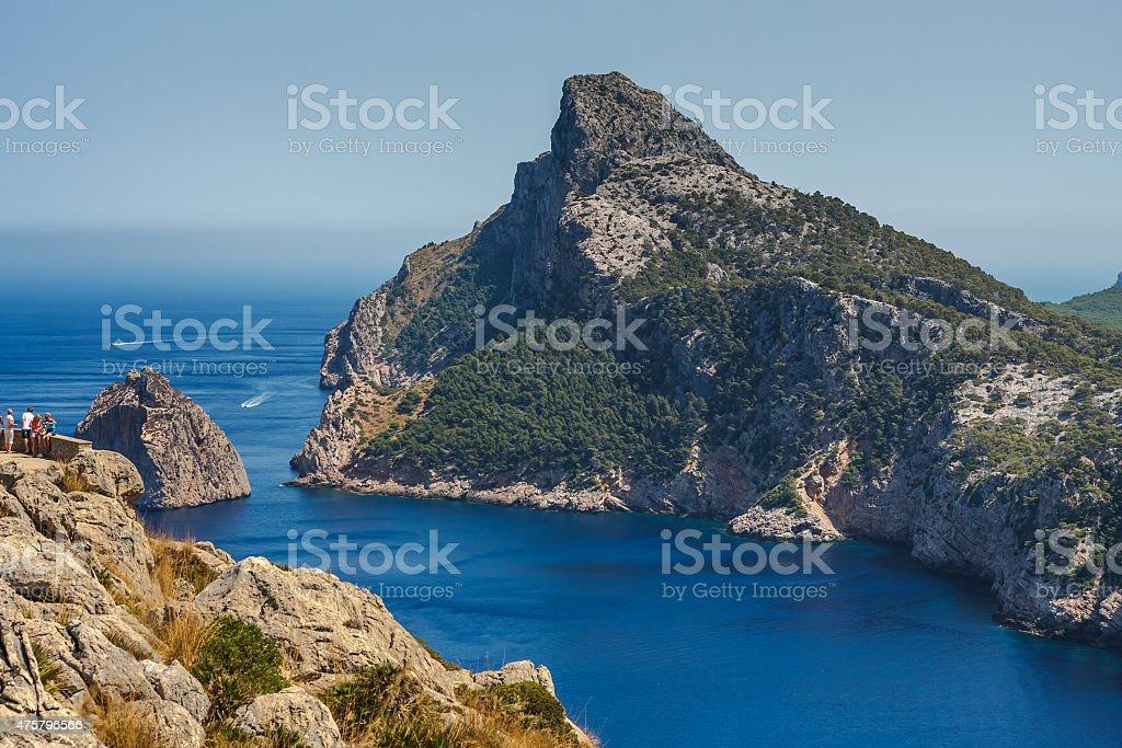 Landscape of Mallorca stock photo