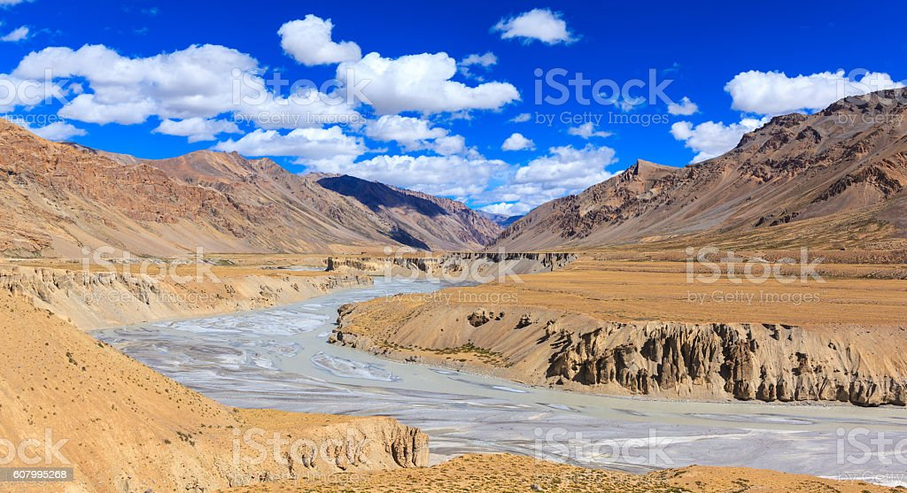 Landscape of Manali-Leh highway, Jammu and Kashmir, India stock photo