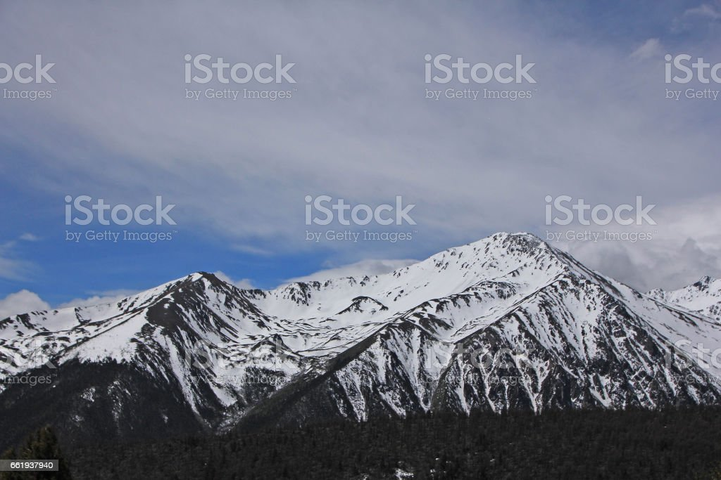 Landscape of Meili Snow Mountain in Yunnan royalty-free stock photo