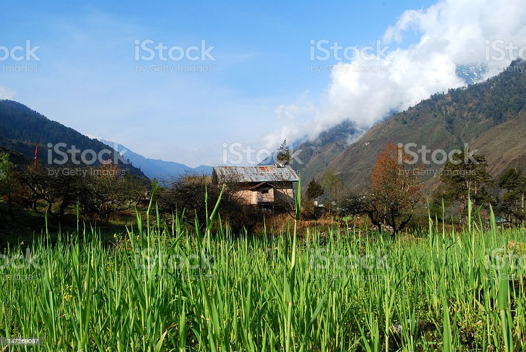 landscape of mountain vally royalty-free stock photo