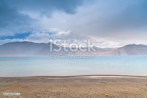 Landscape of mountains and mountain road to Nubra valley in Leh, Ladakh India