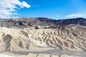Landscape of mudstone badlands at Zabriskie Point, Death Valley National Park, California, USA.