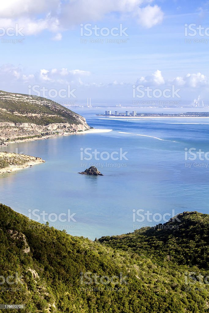 Landscape of National park Arrabida in Portugal royalty-free stock photo