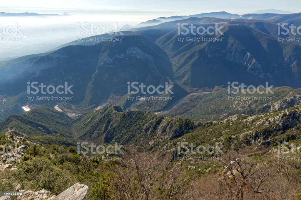 Landscape of Nestos River Gorge near town of Xanthi, Greece zbiór zdjęć royalty-free