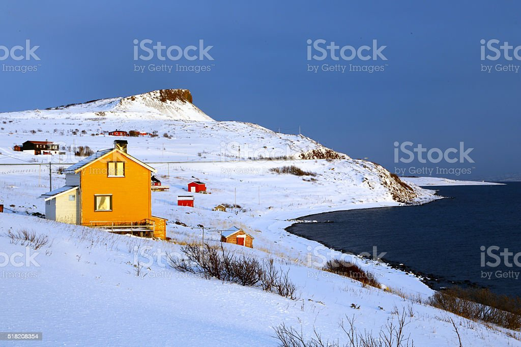 Landscape of northern Norway stock photo