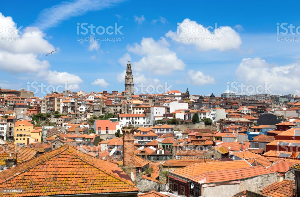 Landscape of old town of Porto, Portugal, Europe stock photo