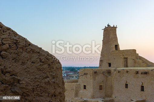 980314112 istock photo landscape of old village after dawn 497641368