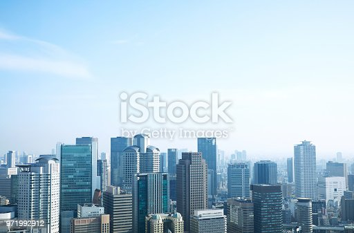 landscape of Osaka city