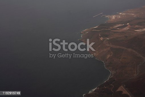 621114928istockphoto Landscape of over flight with aerial view of sea and land in Baja California Mexico 1152915749